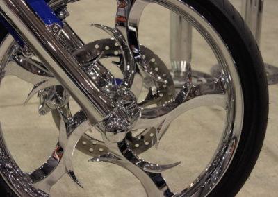 Chrome plating motorbike wheel 2
